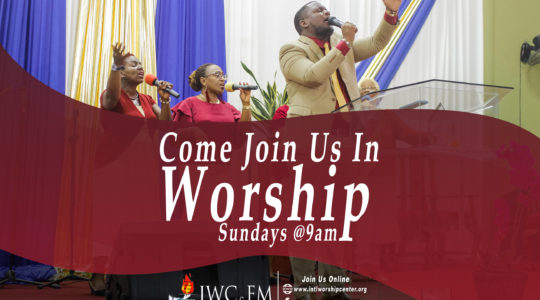 Divine Worship Service: Sundays at 9:00 A.M.