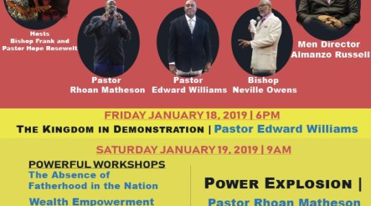 Men's Conference - January 18 - 20, 2019