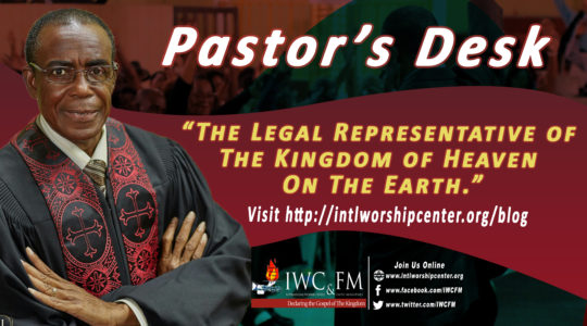 The legal representative of The Kingdom of Heaven on the earth.
